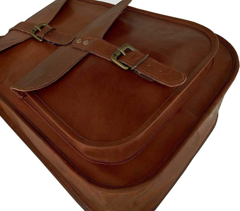 Vintage leather backpack for College School Office- NA