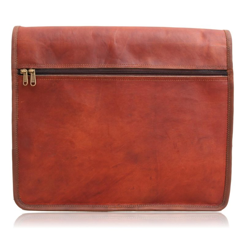 Classic Deluxe Leather Full Flap Shoulder Messenger Bag