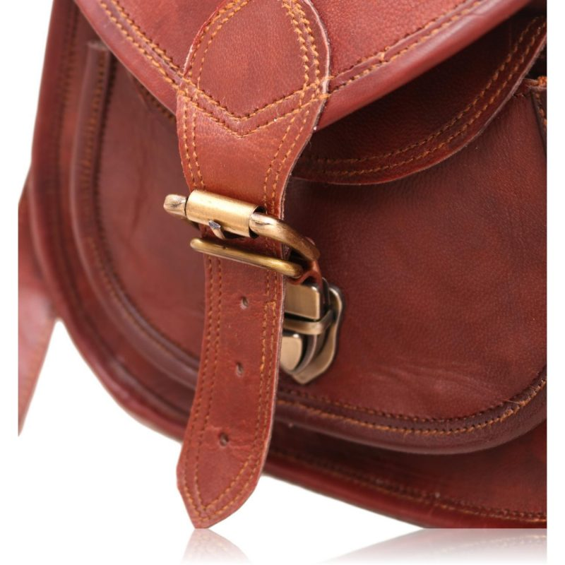 Classic Elegant Leather Cross Body Sling Purse